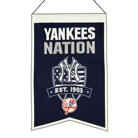 MLB, New York Yankees, Banners, Embroidered Banner, Officially licensed banner, New York Yankees gift