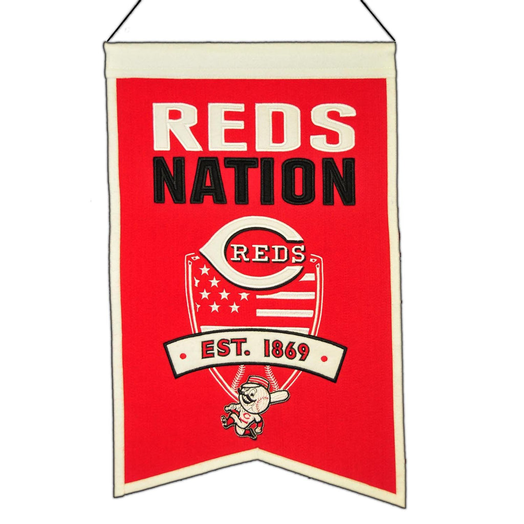 MLB, Cincinnati Reds, Banners, Embroidered Banner, Officially licensed banner, Cincinnati Reds gift
