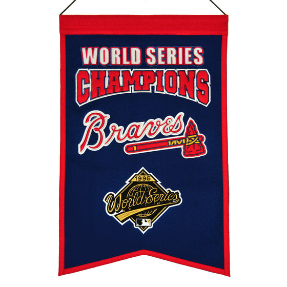 MLB, Atlanta Braves, Banners, Embroidered Banner, Officially licensed banner, Atlanta Braves gift