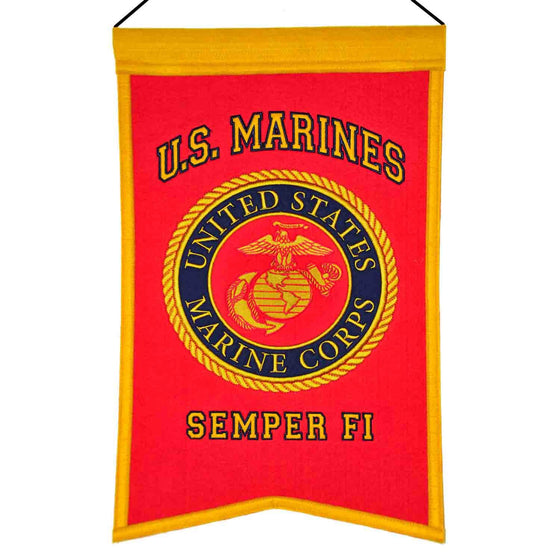 America - Military, US Marines, Banners, Embroidered Banner, Officially licensed banner, US Marines gift