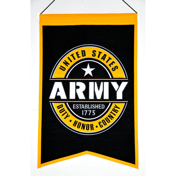 America - Military, US Army, Banners, Embroidered Banner, Officially licensed banner, US Army gift