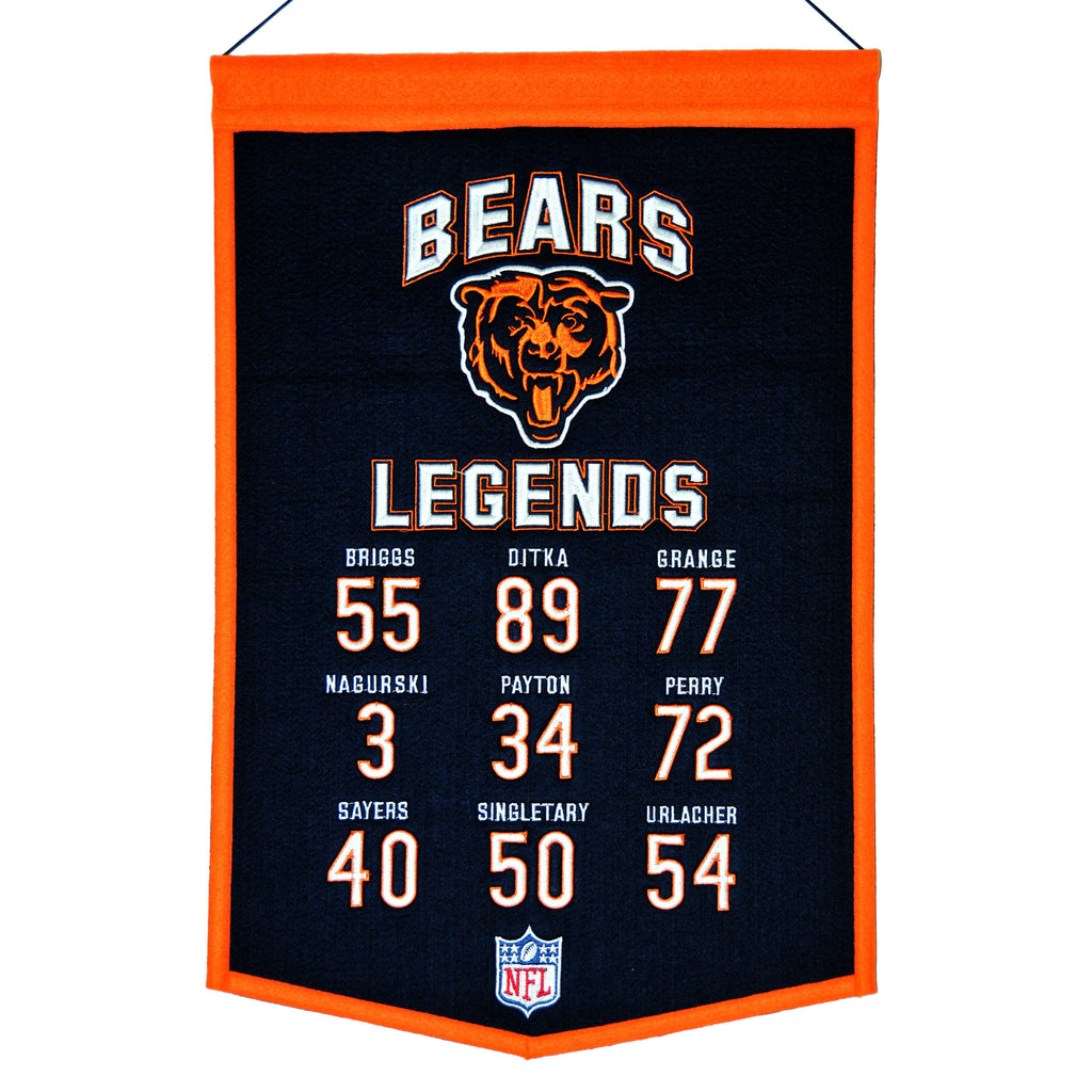 NFL, Chicago Bears, Banners, Embroidered Banner, Officially licensed banner, Chicago Bears gift