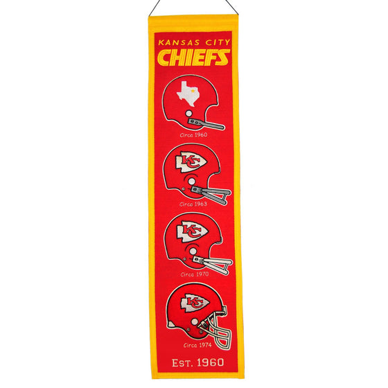 NFL, Kansas City Chiefs, Banners - Narrow, Embroidered Banner, Officially licensed banner, Kansas City Chiefs gift