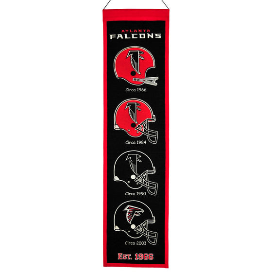 NFL, Atlanta Falcons, Banners - Narrow, Embroidered Banner, Officially licensed banner, Atlanta Falcons gift