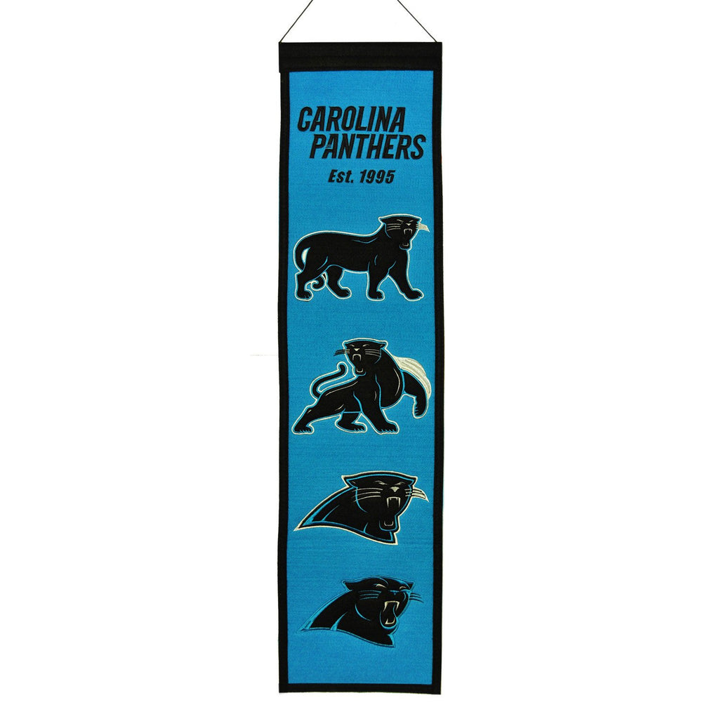 NFL, Carolina Panthers, Banners - Narrow, Embroidered Banner, Officially licensed banner, Carolina Panthers gift