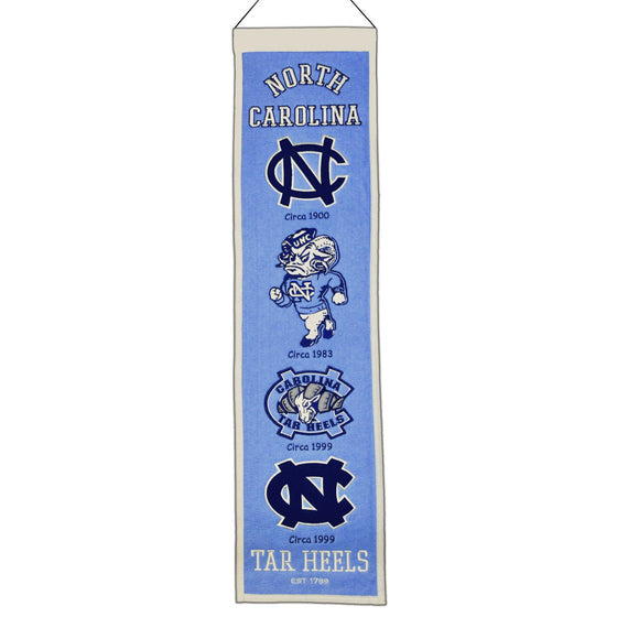NCAA, North Carolina, Banners - Narrow, Embroidered Banner, Officially licensed banner, North Carolina gift