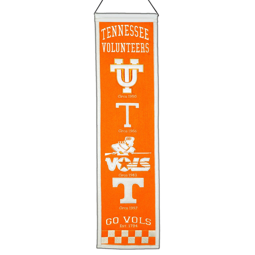 NCAA, Tennessee, Banners - Narrow, Embroidered Banner, Officially licensed banner, Tennessee gift