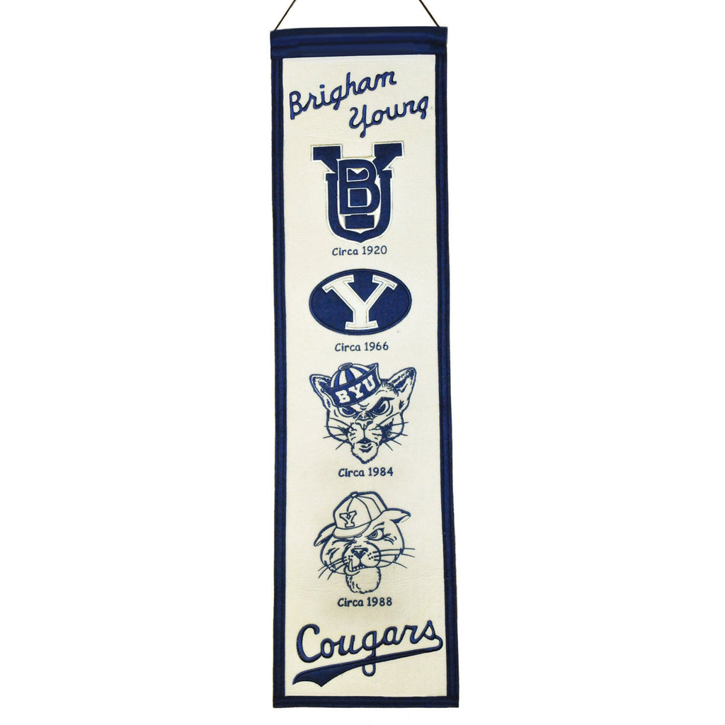 NCAA, Brigham Young, Banners - Narrow, Embroidered Banner, Officially licensed banner, Brigham Young gift