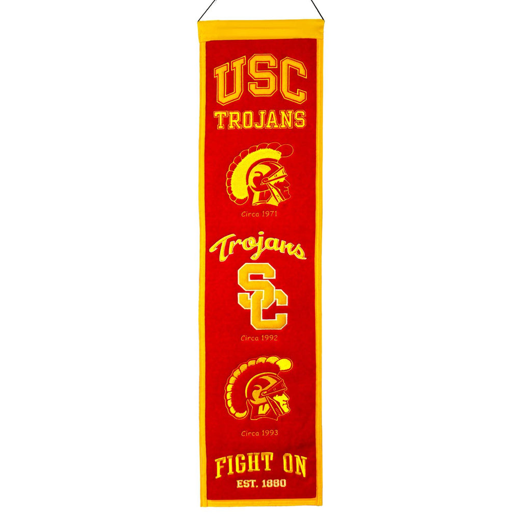 NCAA, Southern California / USC, Banners - Narrow, Embroidered Banner, Officially licensed banner, Southern California / USC gift