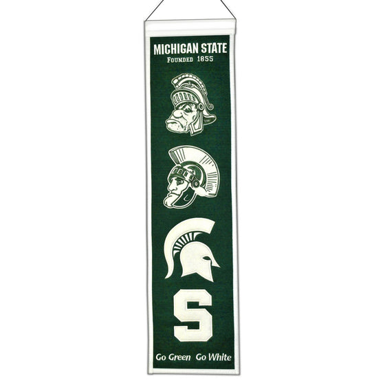 NCAA, Michigan State, Banners - Narrow, Embroidered Banner, Officially licensed banner, Michigan State gift