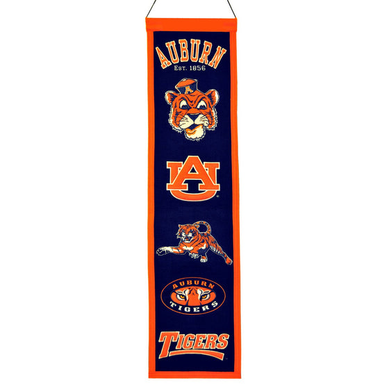NCAA, Auburn, Banners - Narrow, Embroidered Banner, Officially licensed banner, Auburn gift