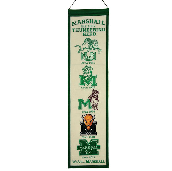 NCAA, Marshall, Banners - Narrow, Embroidered Banner, Officially licensed banner, Marshall gift