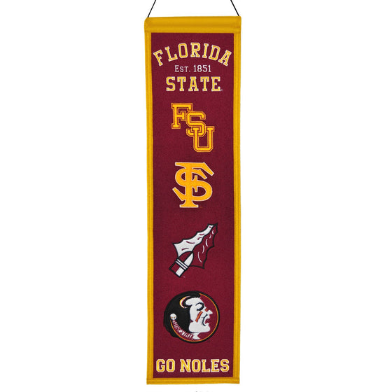 NCAA, Florida State, Banners - Narrow, Embroidered Banner, Officially licensed banner, Florida State gift