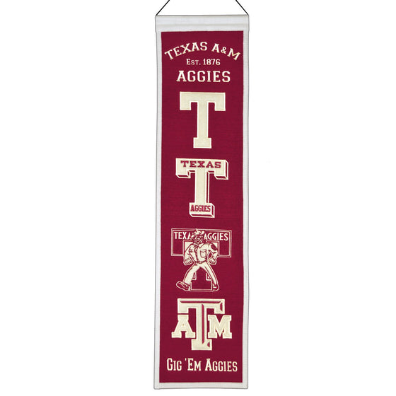 NCAA, Texas A&M, Banners - Narrow, Embroidered Banner, Officially licensed banner, Texas A&M gift