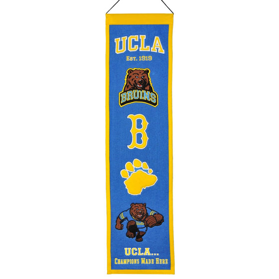 NCAA, UCLA, Banners - Narrow, Embroidered Banner, Officially licensed banner, UCLA gift
