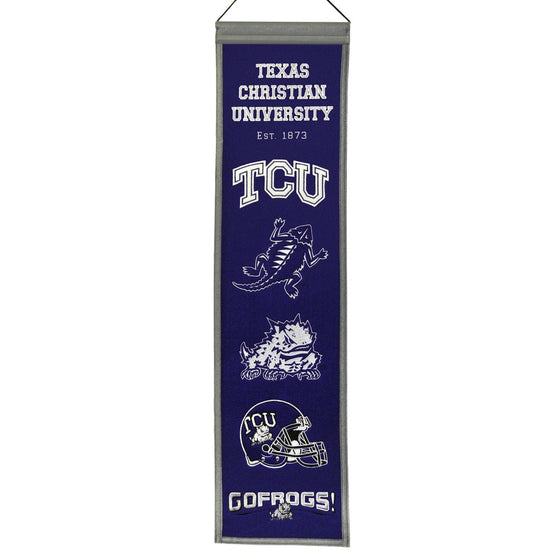 NCAA, Texas Christian / TCU, Banners - Narrow, Embroidered Banner, Officially licensed banner, Texas Christian / TCU gift
