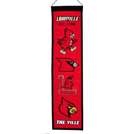 NCAA, Louisville, Banners - Narrow, Embroidered Banner, Officially licensed banner, Louisville gift