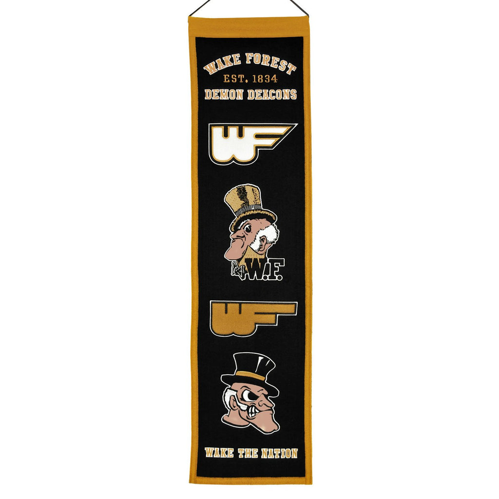 NCAA, Wake Forest, Banners - Narrow, Embroidered Banner, Officially licensed banner, Wake Forest gift