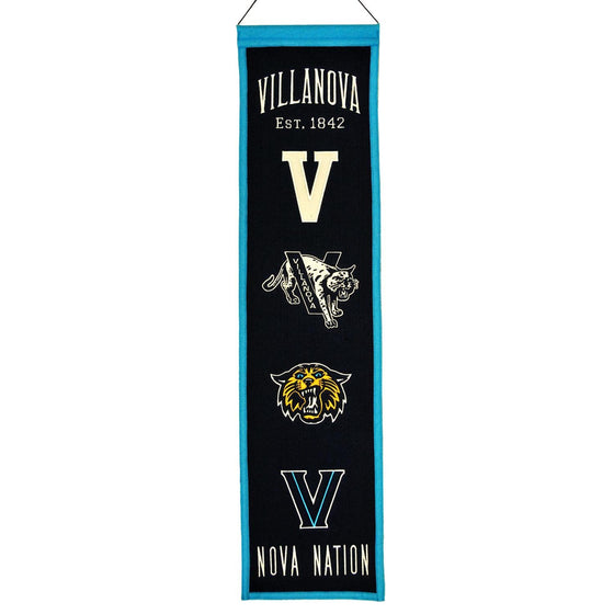 NCAA, Villanova, Banners - Narrow, Embroidered Banner, Officially licensed banner, Villanova gift