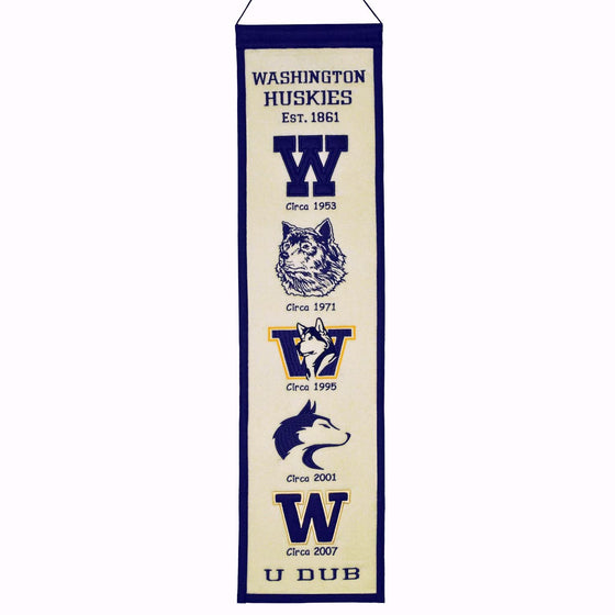 NCAA, Washington, Banners - Narrow, Embroidered Banner, Officially licensed banner, Washington gift