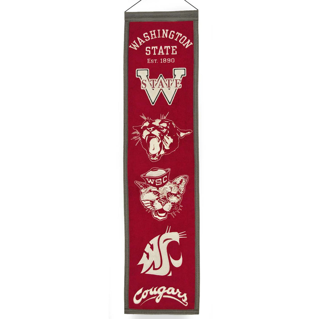 NCAA, Washington State, Banners - Narrow, Embroidered Banner, Officially licensed banner, Washington State gift