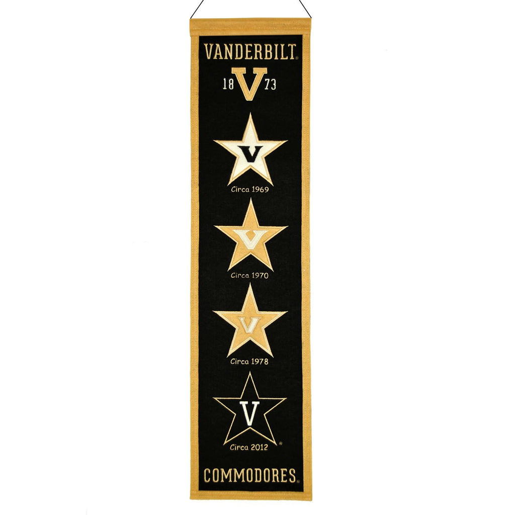 NCAA, Vanderbilt, Banners - Narrow, Embroidered Banner, Officially licensed banner, Vanderbilt gift