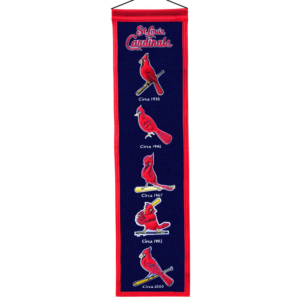 MLB, St. Louis Cardinals, Banners - Narrow, Embroidered Banner, Officially licensed banner, St. Louis Cardinals gift