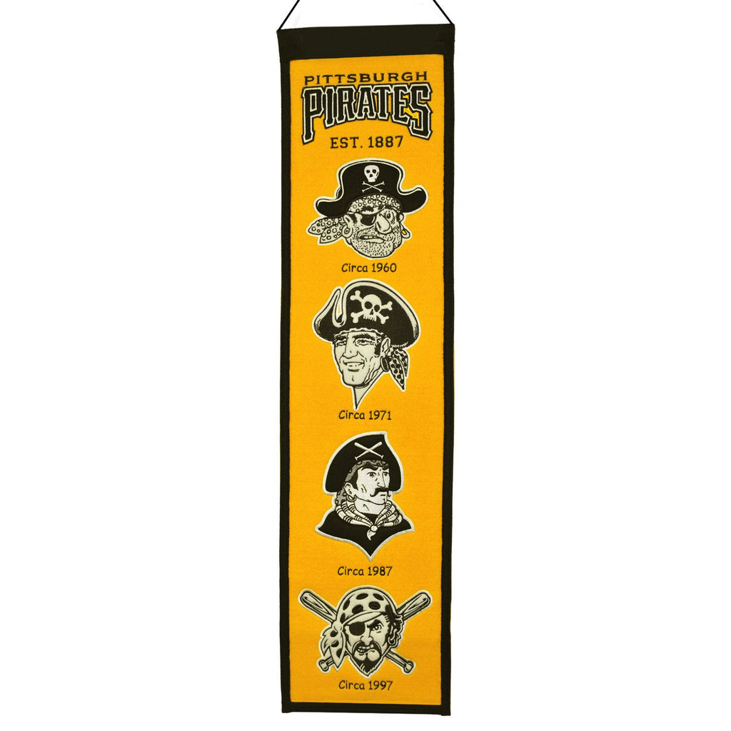 MLB, Pittsburgh Pirates, Banners - Narrow, Embroidered Banner, Officially licensed banner, Pittsburgh Pirates gift
