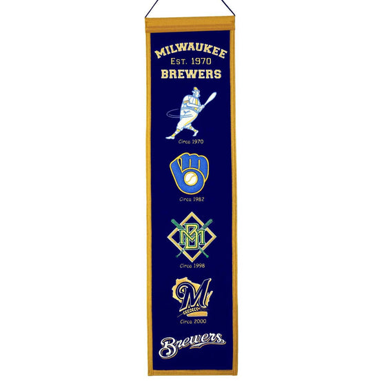 MLB, Milwaukee Brewers, Banners - Narrow, Embroidered Banner, Officially licensed banner, Milwaukee Brewers gift