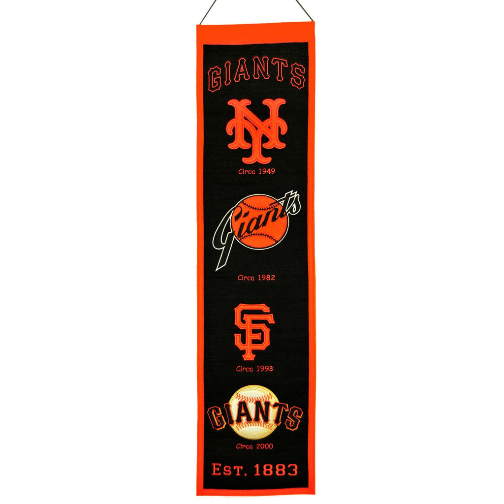MLB, San Francisco Giants, Banners - Narrow, Embroidered Banner, Officially licensed banner, San Francisco Giants gift