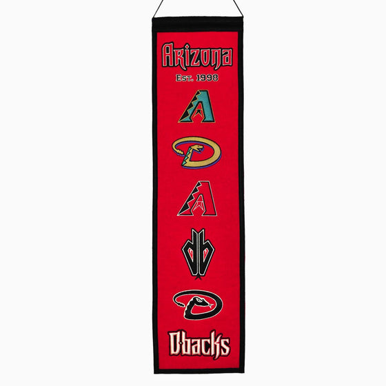 MLB, Arizona Diamondbacks, Banners - Narrow, Embroidered Banner, Officially licensed banner, Arizona Diamondbacks gift