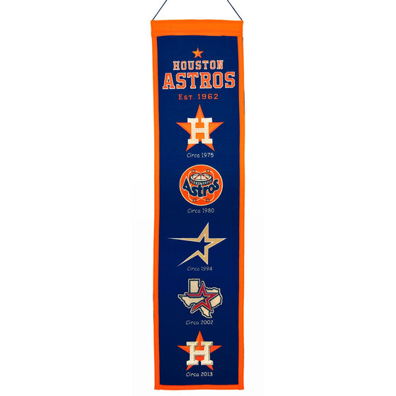 MLB, Houston Astros, Banners - Narrow, Embroidered Banner, Officially licensed banner, Houston Astros gift