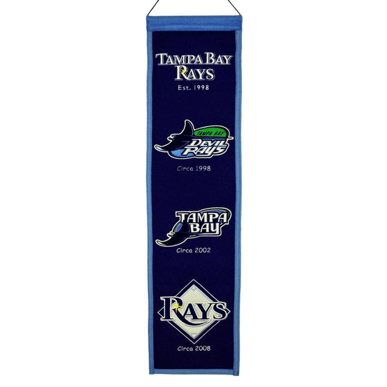 MLB, Tampa Bay Rays, Banners - Narrow, Embroidered Banner, Officially licensed banner, Tampa Bay Rays gift