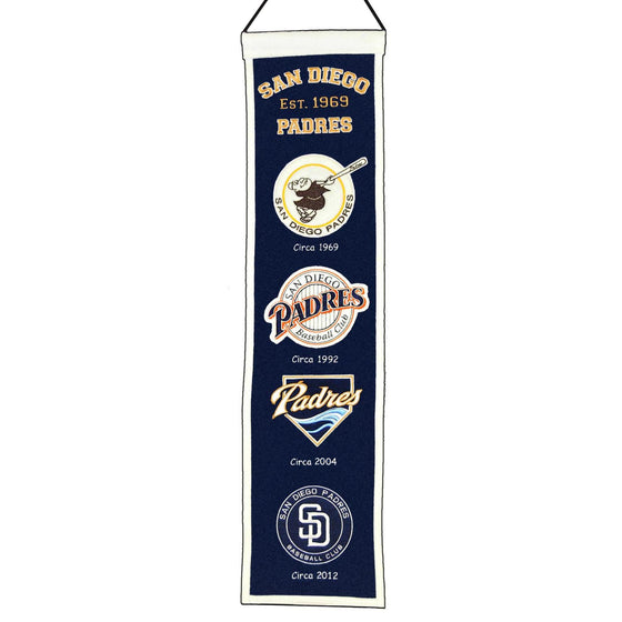 MLB, San Diego Padres, Banners - Narrow, Embroidered Banner, Officially licensed banner, San Diego Padres gift