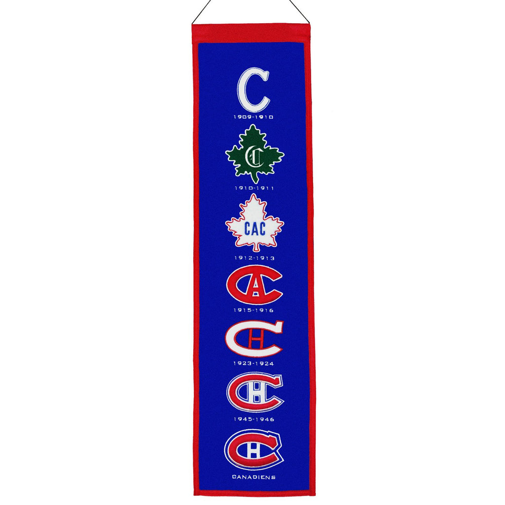 NHL, Montreal Canadiens, Banners - Narrow, Embroidered Banner, Officially licensed banner, Montreal Canadiens gift