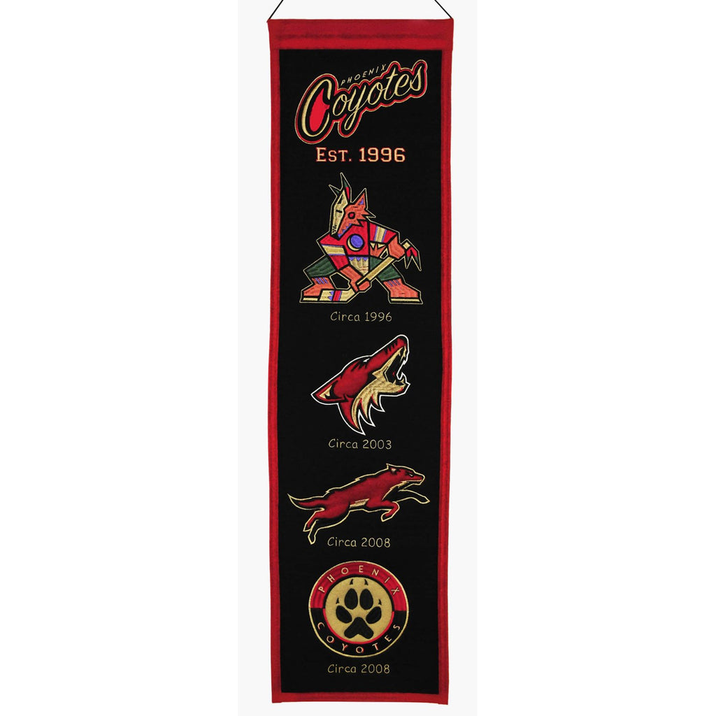 NHL, Phoenix Coyotes, Banners - Narrow, Embroidered Banner, Officially licensed banner, Phoenix Coyotes gift