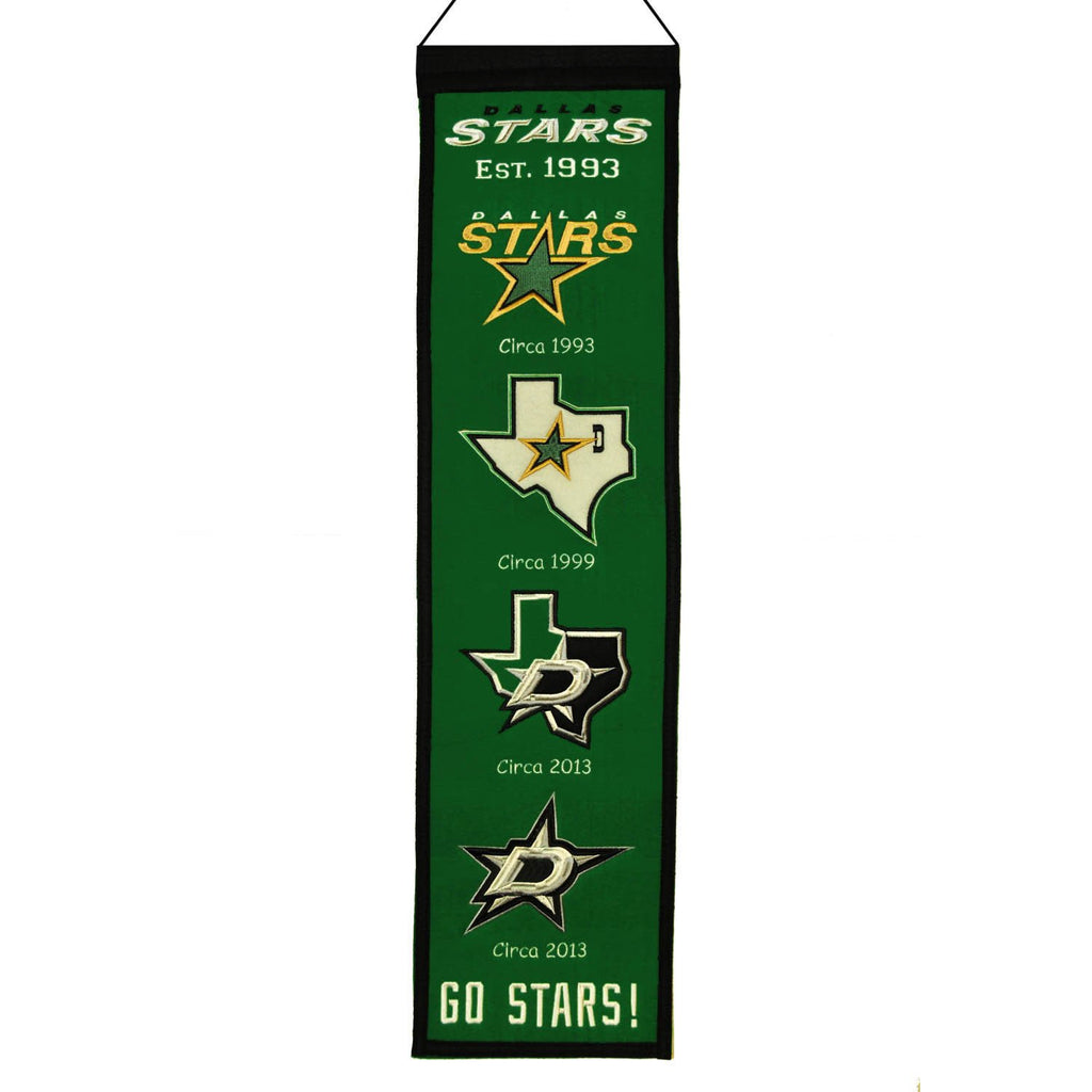 NHL, Dallas Stars, Banners - Narrow, Embroidered Banner, Officially licensed banner, Dallas Stars gift