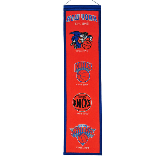 NBA, New York Knicks, Banners - Narrow, Embroidered Banner, Officially licensed banner, New York Knicks gift
