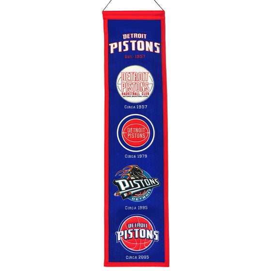 NBA, Detroit Pistons, Banners - Narrow, Embroidered Banner, Officially licensed banner, Detroit Pistons gift