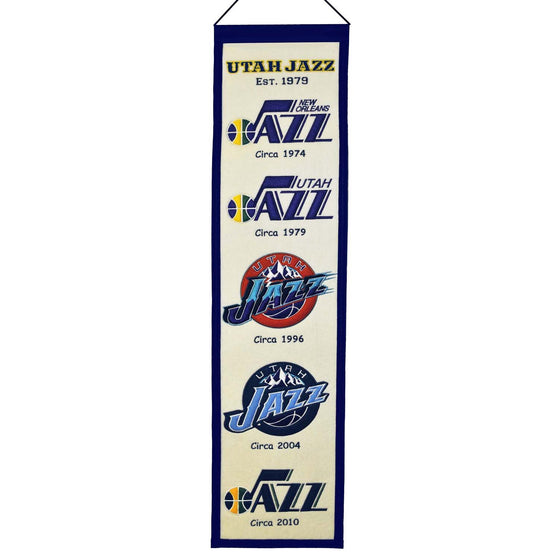 NBA, Utah Jazz, Banners - Narrow, Embroidered Banner, Officially licensed banner, Utah Jazz gift