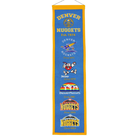 NBA, Denver Nuggets, Banners - Narrow, Embroidered Banner, Officially licensed banner, Denver Nuggets gift