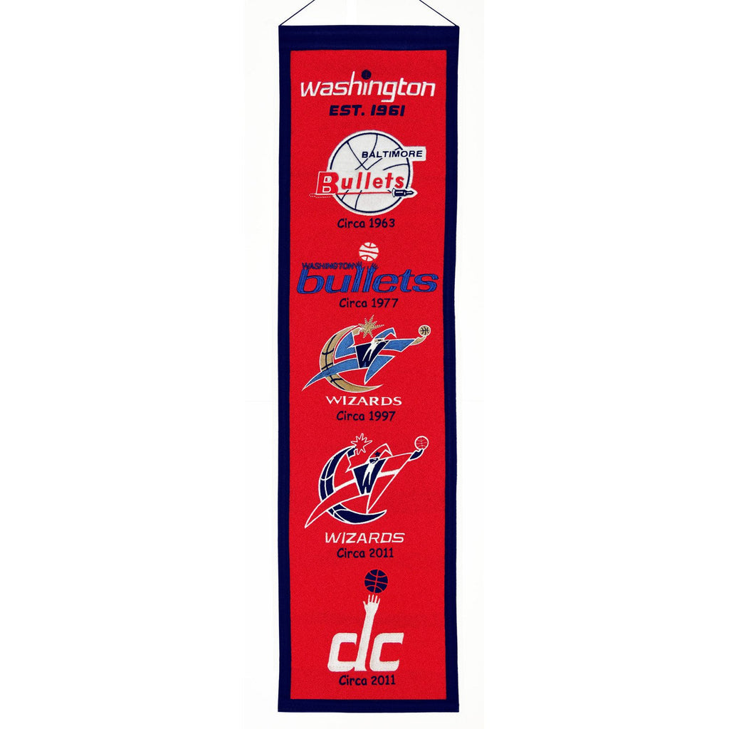 NBA, Washington Wizards, Banners - Narrow, Embroidered Banner, Officially licensed banner, Washington Wizards gift