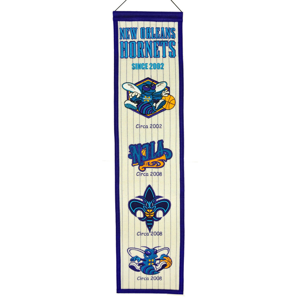 NBA, New Orleans Pelicans, New Orleans Hornets, Banners - Narrow, Embroidered Banner, Officially licensed banner, New Orleans Pelicans gift