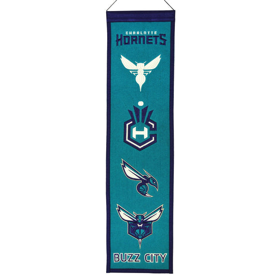 NBA, Charlotte Hornets, Banners - Narrow, Embroidered Banner, Officially licensed banner, Charlotte Hornets gift