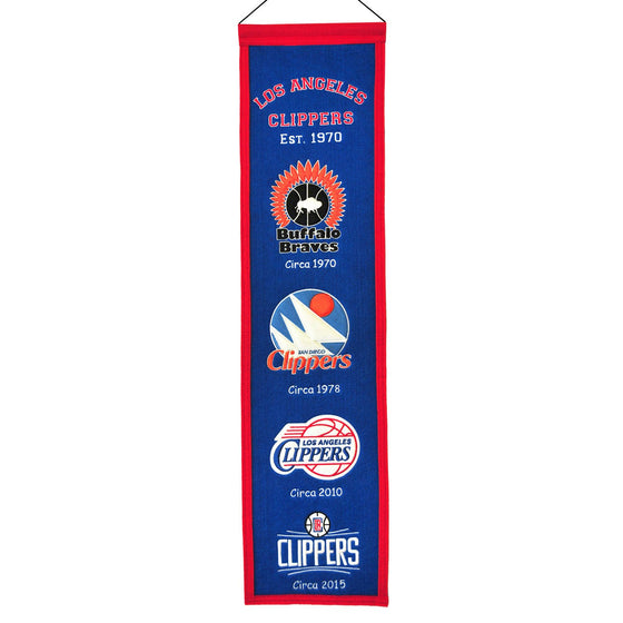 NBA, Los Angeles Clippers, Banners - Narrow, Embroidered Banner, Officially licensed banner, Los Angeles Clippers gift