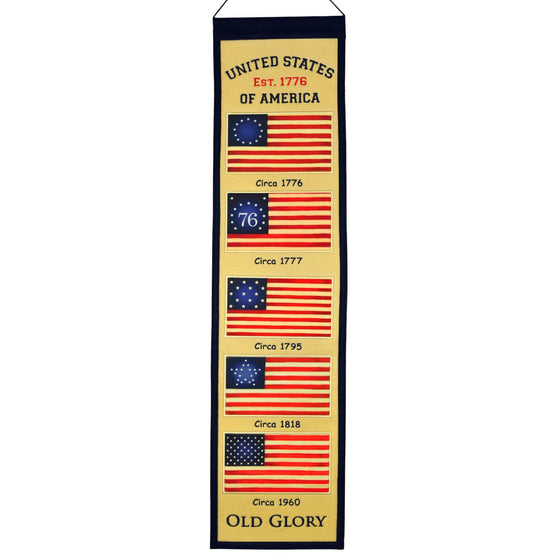 America - Military, Americana, Banners - Narrow, Embroidered Banner, Officially licensed banner, Americana gift