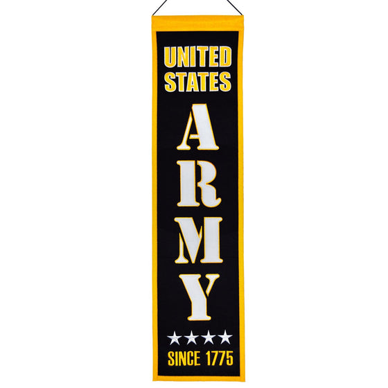 America - Military, US Army, Banners - Narrow, Embroidered Banner, Officially licensed banner, US Army gift