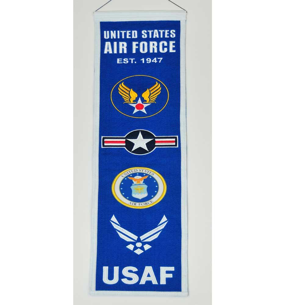 America - Military, US Air Force, Banners - Narrow, Embroidered Banner, Officially licensed banner, US Air Force gift