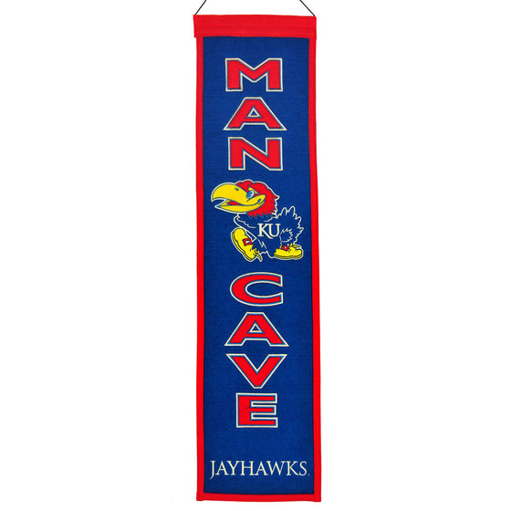 NCAA, Kansas, Banners - Narrow, Embroidered Banner, Officially licensed banner, Kansas gift