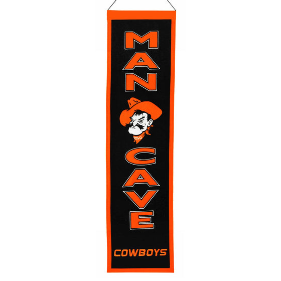 NCAA, Oklahoma State, Banners - Narrow, Embroidered Banner, Officially licensed banner, Oklahoma State gift